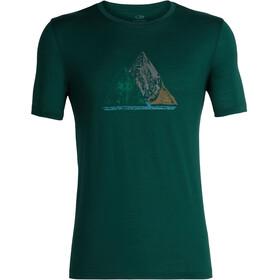Icebreaker Tech Lite Sum of Parts SS Crew Shirt Men Dark Pine